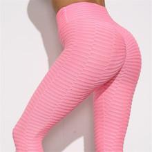Damskie legginsy do biegania rajstopy 2020 Push Up Hip sportowe legginsy Sportwear Fitness legginsy gimnastyczne legginsy do biegania damskie Femme tanie tanio WOMEN Poliester spandex Bieganie Pasuje prawda na wymiar weź swój normalny rozmiar Stałe A1490 Ankle-Length Pant Tight