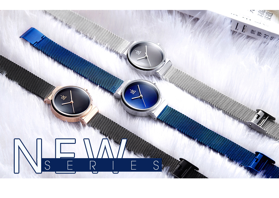 Shengke Blue Wrist Watch Women Watches Luxury Brand Steel Ladies Quartz Women Watches 2019 SK  Relogio Feminino Dropshipping
