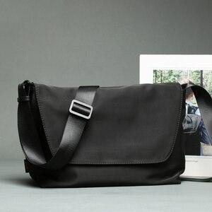 Высококачественные мужские сумки через плечо 2020, черные сумки через плечо, водонепроницаемые мягкие сумки-мессенджер из полиэстера (XW0001)