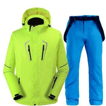 2020 New Thermal Winter Ski Suit Men Women Windproof Waterproof Skiing and Snowboarding Jacket Pants Suit Male Snow Costume Wear 2018 men ski suit snowboard suit thermal jacket pant winter suit windproof waterproof outdoor sport wear skiing male clothing