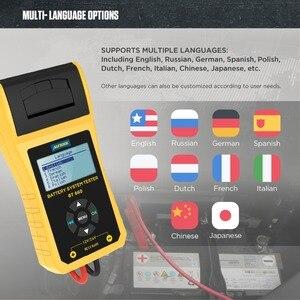 Image 5 - Autool BT660車バッテリ負荷テスターアナライザプリンタ12v cca自動クランキング充電ボルトテスト車両診断ツールデジタル