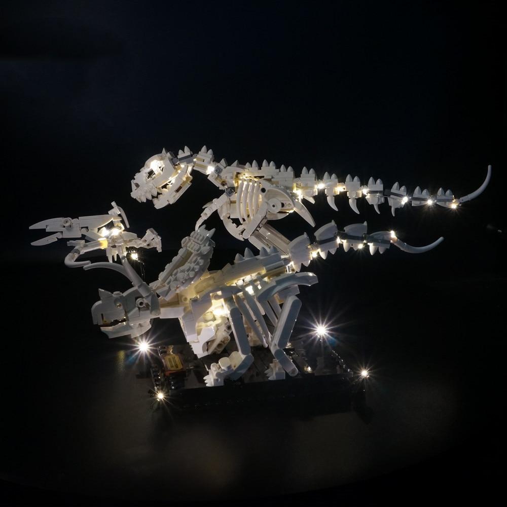 Led Light kit For LEGO 21320 IDEAS Dinosaur Fossils building blocks kit Dinosaur