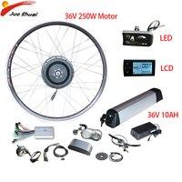 EU Duty Free 36V10AH Electric Bike Conversion Kit 36V 250W Front Rear Electrico Hub Motor Wheel Bicicleta Eletrica Moto Eletrica