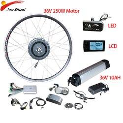 Ue bezcłowy 36V10AH zestaw do konwersji roweru elektrycznego 36V 250W przedni tylny elektryczny piasta koło silnikowe Bicicleta Eletrica Moto Eletrica w Silniki do rowerów elektrycznych od Sport i rozrywka na