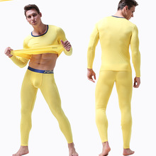6 Colors 2 Piece/Set Long Johns for Male Warm Thermal Underw