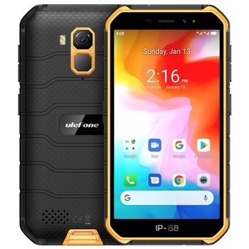 Ulefone Armor X7 5.0 NFC Android 10 IP68 shockproof mobile phones 2GB +16GB Quad-core cell phone 4000mAh 4G Rugged Smartphone