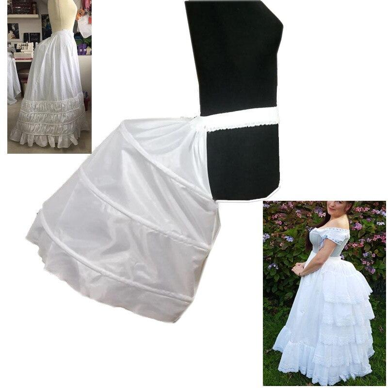 Adult Baroque Hip Petticoat Underskirt Slip Special Petticoat For Baroque 3 Hoops Crinoline Wedding Dress Prom Dress Underskirt