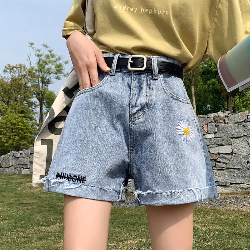 High Waisted Black Jeans Mom Summer Denim Short Jeans Feminino Vintage Blue Short Boyfriend Little Daisy Korean New Casual