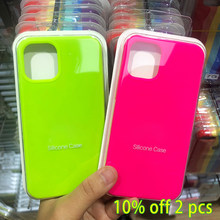 Official Original Silicone Case For iPhone 12 Mini SE 2020 XR Xs X 7 8 6s 7Plus Cases For iPhone XR 12 11 Pro MAX Full Cover
