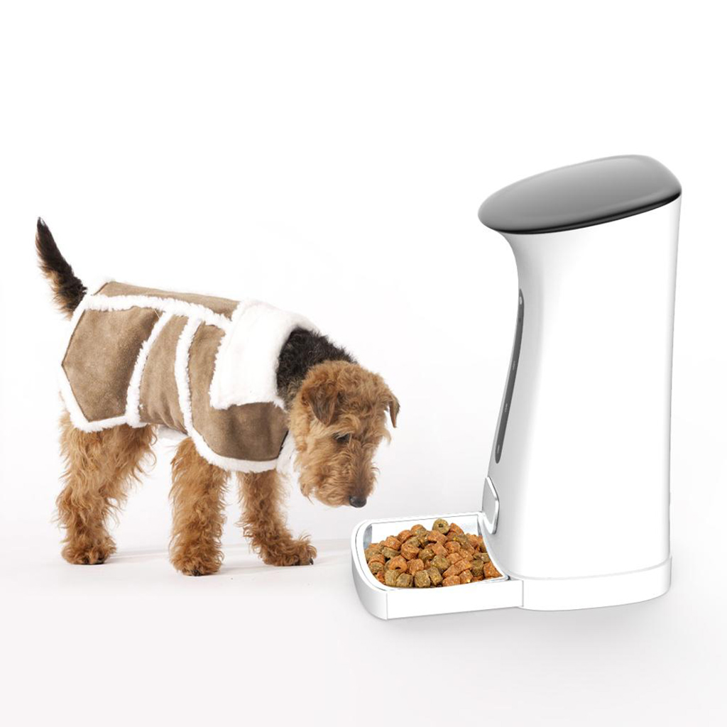 Automatic Pet Feeder Cats Dogs Timed Programmable Food Dispenser Feeder, 8 Meals