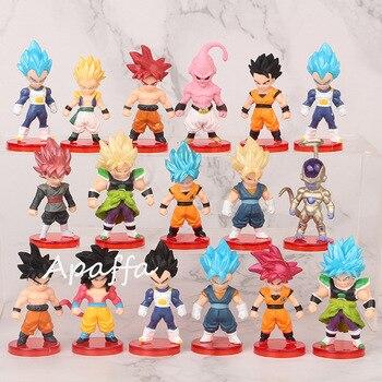 16pcs/lot Dragon Ball Super Saiyan God Action Figure Son Goku Gohan Vegeta Vegetto Frieza Zamasu Ultra Instinct Model Toys Gift