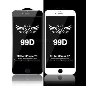 Image 5 - Защитное стекло с закругленными краями 99D для iPhone 7 8 6 6S Plus, закаленное стекло для экрана iPhone X XR XS Max