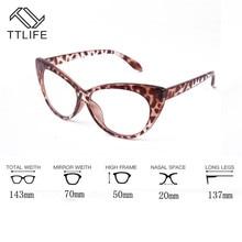 """TTLIFE очки для компьютера, анти синие ретро очки """"кошачий глаз"""", синий светильник, очки против радиации, прозрачные большие Натяжные очки YJHH0283"""