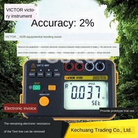 Potential connection tester VC4109 ground network connection lightning protection DC low resistance meter micro ohmmeter