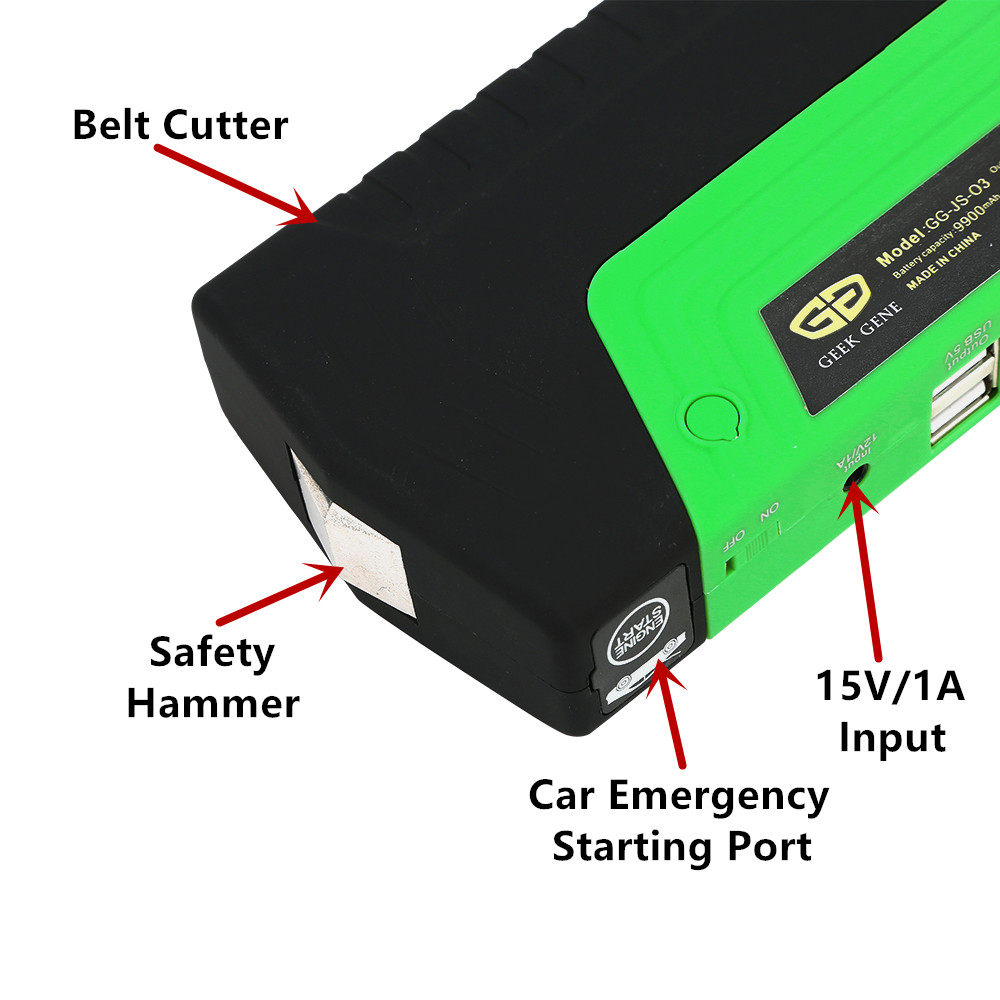 lowest price GKFLY High Power  Jump Starter 600A Multifunction Portable Power Bank 12V Car Battery Booster Emergency Starting Device Cables