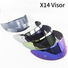 Подходит для X14 Профессиональный гоночный шлем солнцезащитный козырек защитные очки Полнолицевые линзы Снежный козырек дождевик специальные линзы