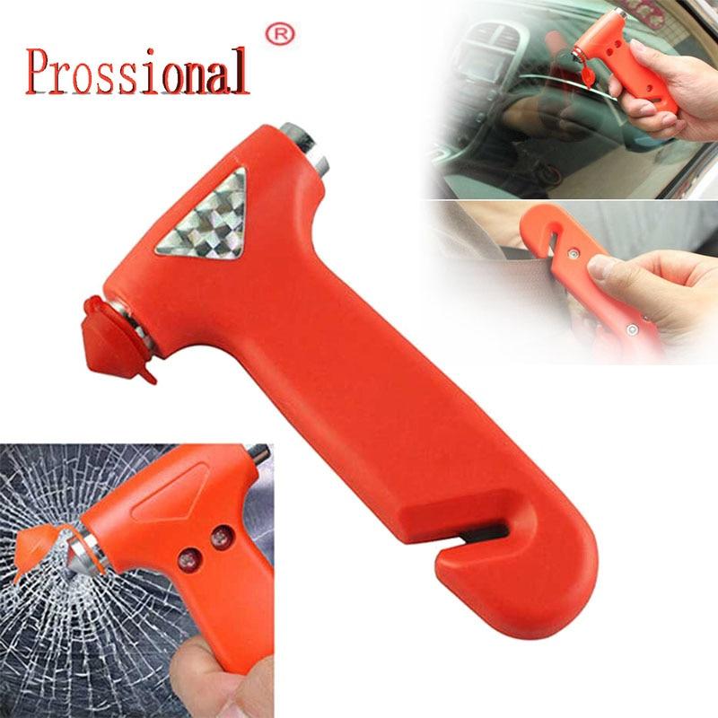 Mini Car Safety Hammer Life Saving Escape Emergency Hammer Seat Belt Cutter Window Glass Breaker Car Rescue Red Hammer