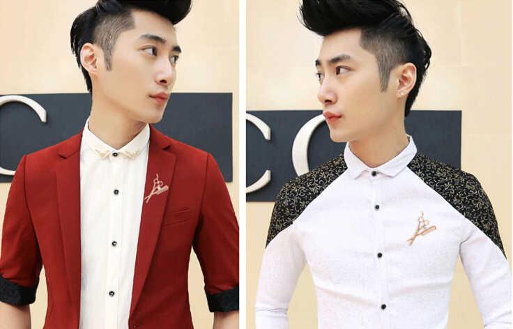 Baru Tren Fashion Aksesoris Tukang Cukur Gunting Bros Bros Pria Bros Pin Bros untuk Wanita Enamel Pin Grosir