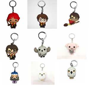 Keyring Keychain Action-Figure-Toys Dobby Hermione Soft-Pvc-Pendant Voldemort Q-Version