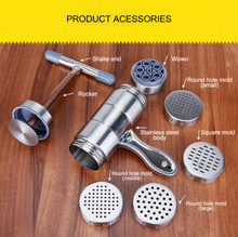 Noodle Maker Press Pasta Machine Crank Cutter Fruits Juicer Cookware Making Spaghetti Kitchen Tools Manual Stainless Steel eas stainless steel noodle press machine vegetable fruit juicer kitchen