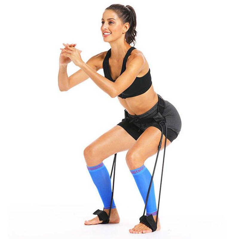 Sport Fitness Buttocks Leg Muscle Training Set Resistance Band Adjustment Waist Belt Elastic Band Pedal Exercise Workout For Man