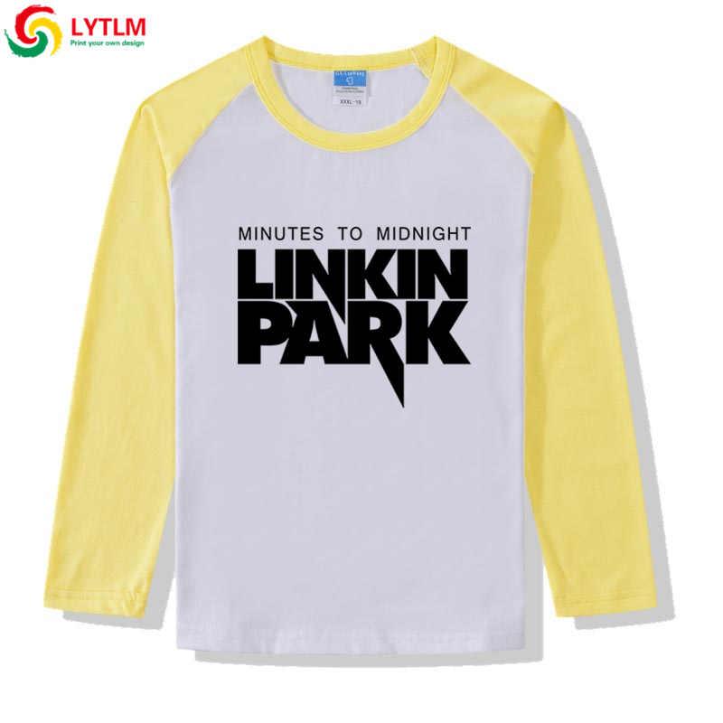 LYTLM لينكين بارك Camiseta طويلة الأكمام التي شيرت طفل رضيع الروك القمصان للمراهقين الشارع الشهير الاطفال قمم للفتيات طفل الملابس