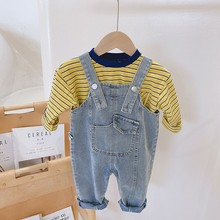 Clothing Jumpsuits Overalls Jeans Pants Baby-Girl Boys Kids Children's Fashion Loose
