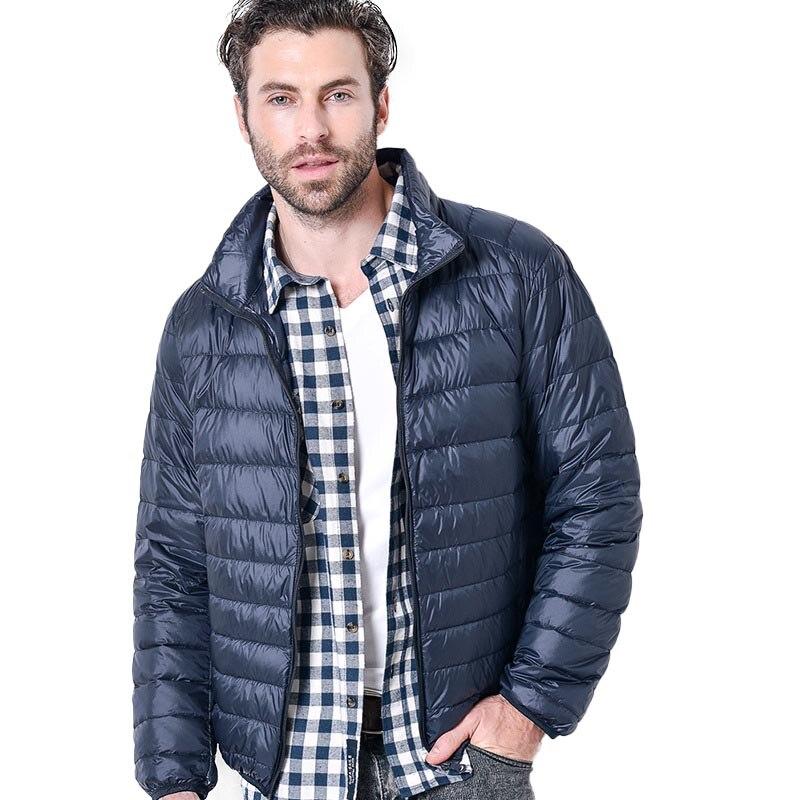 Winter New Light Down Jacket Coat For Men Stand Collar Slim Large Size 5Xl Casual Short Coat Men Doudoune Homme