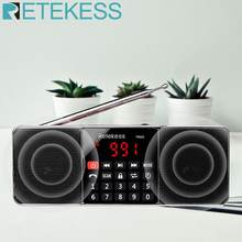 RETEKESS TR602 Digital Portable AM FM Radio Bluetooth Speaker AUX Stereo MP3 Player TF/SD Card Sleep Timer USB Drive LED Display