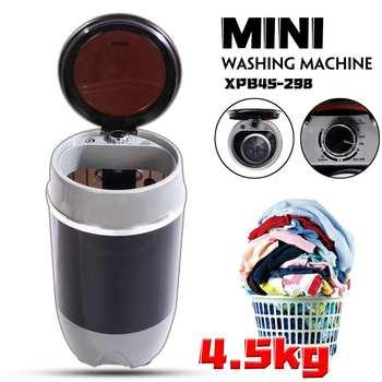 300W 4.5KG Mini Lavatrice Singolo Barile Semiautomatica Lavatrice A Basso Rumore per la Casa Dormitorio Macchina di Lavaggio Macchina