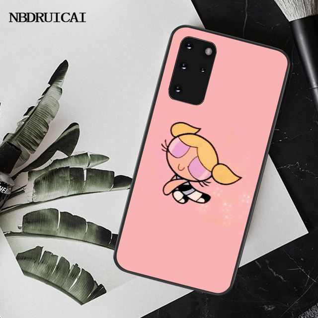 NBDRUICAI The Power puff Powerpuff Girls Coque Shell Phone Case for Samsung S20 plus ultra S6 S7 edge S8 S9 plus S10 5G