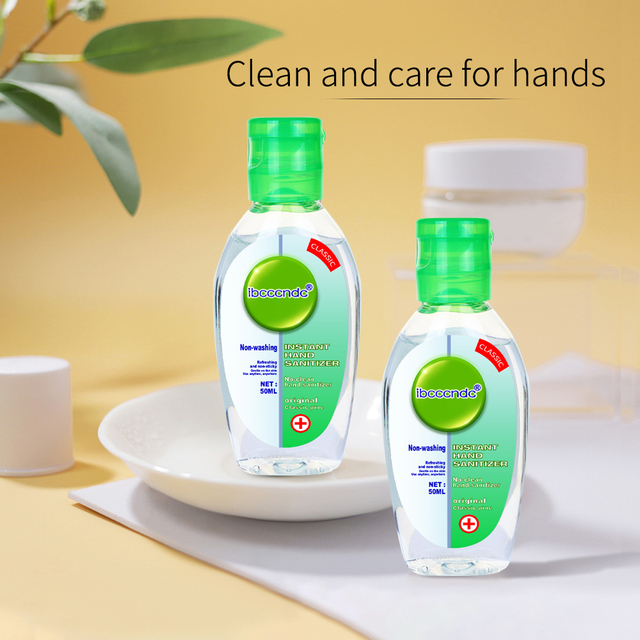 50ml Travel Portable Hand Sanitizer Gel Anti-Bacteria Moisturizing Liquid Disposable No Clean Waterless Antibacterial Hand Gel 2