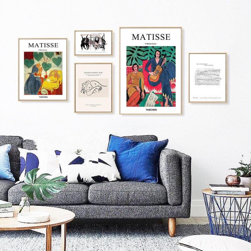 Henri Matisse Taschen Retro Posters And Prints Guitar Girl Portrait Wall Art Canvas Painting Pictures For Living Room Home Decor