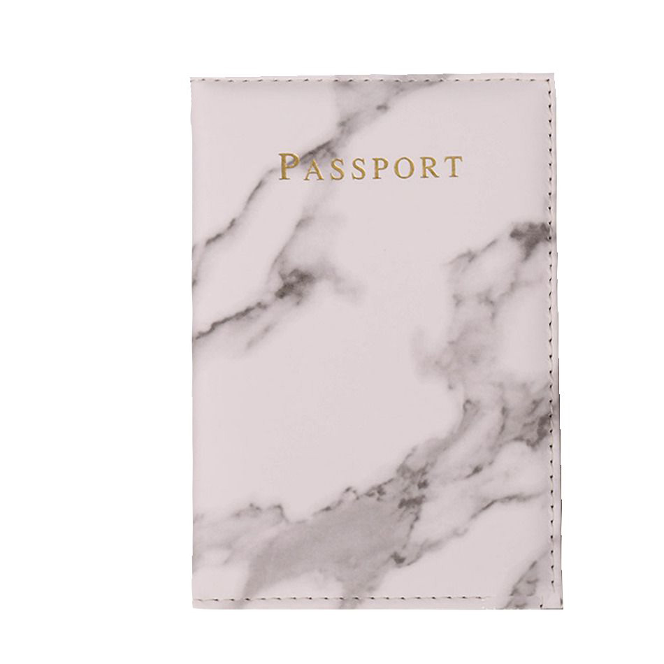 Vintage Marble Passport Holder ID Cover Travel Accessories Portable Bank Card Passport Women Men Business PU Leather Wallet Case