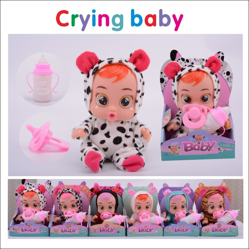 10 Inch 3D Silicone Cute Doll Reborn Comfort Crying Baby High Quality Magic Tears Dolls Toys For Children Surprise Gift