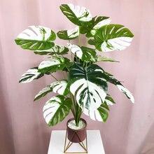 75cm 24 widelce Tropical Monstera duże sztuczne rośliny fałszywe liście żółwia plastikowa palma dla domu ogród ślub dekoracje biurowe