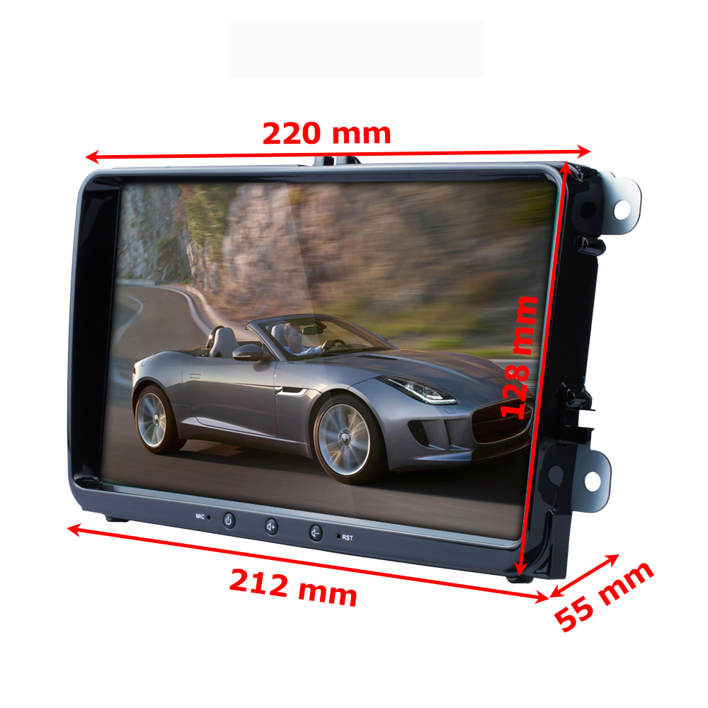 Podofo 9 ''Android 8.1 voiture lecteur multimédia 2 din Autoradio pour VW/Golf/Polo/Tiguan/Passat/Seat/leon/Skoda/Octavia - 2