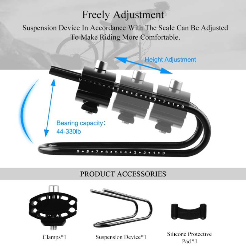Bicycle Shocks Spring Saddle Absorber Aluminum Alloy Shock Absorber Bike Cycling Suspension Device MTB Mountian Bike Parts