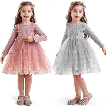 Winter Autumn Long Sleeve Children Girl Dresses Casual School Dress for Girls Fancy Dress Kids Girl Party Wear Clothing 3 8T
