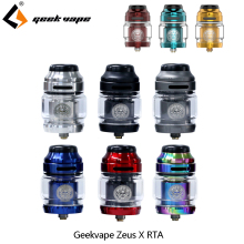 Vape tank Geekvape Zeus X RTA 4.5ml tank capacity with 810 Delrin drip tip Electronic cigarette atomizer vs zeus dual/AMMIT MTL original geekvape ammit dual coil rta tank 3ml 6ml atomizer support both dual and single coil