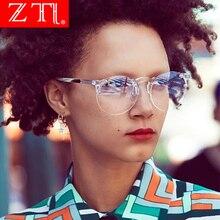 ZT Cute Sexy Sun Glasses Women Round Rimess Sunglasses Trend Men Green Tinted Lens Glasses Uv400