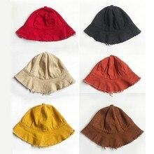 Детская солнцезащитная Кепка для малышей, летняя верхняя одежда для маленьких мальчиков и девочек, Пляжная хлопковая Джинсовая Шляпа, модные шапки для детей 1-3 лет, новинка, Hvlv