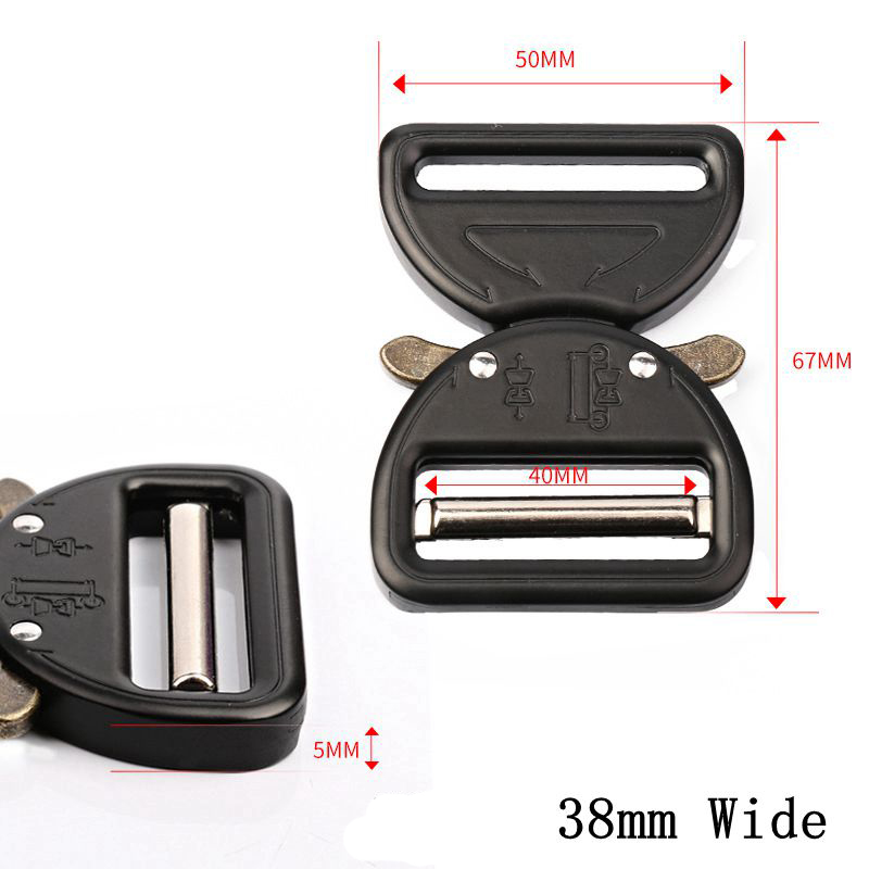 32 38mm Tactical Belt Buckle Webbing Detach Buckle For Sports Bags Students Bags Strap Belt Luggage Travel Belt Buckles For Men