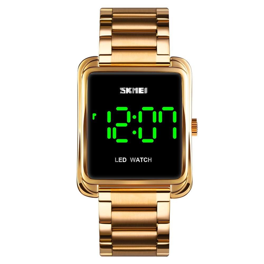 SKMEI LED Touch Screen männer Digitale Uhr Einfache Stil 30M Wasserdicht Edelstahl Elektronische Männer Armbanduhren relogios 1505