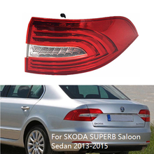 MIZIAUTO Outer Light LED Tail Lamp Assembly for SKODA SUPERB Saloon Sedan 2013-2015 Rear Brake Light Lamp for chery a3 sedan reversing light rear tail lamp assembly brake light lamp tail light assembly