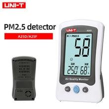 UNI-T A25F Air Qualität Detektor PM 2,5 Monitor Meter Formaldehyd Laser Temperatur Feuchtigkeit Indoor Polymer Batterie A25D