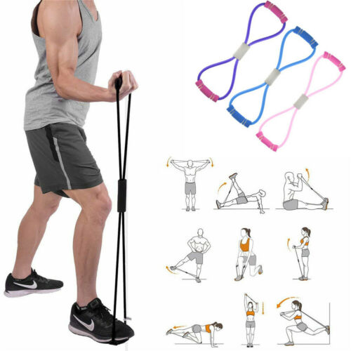 Home Yoga Gym Latex Sport Fitness Tube  Heavy Duty Resistance Bands Loop Exercis