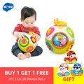 HOLA 938 Игрушки для малышей, игрушка для ползания с музыкой и светом, обучающая форма/количество/животное для раннего развития, игрушка в подар...
