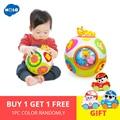 HOLA 938 Brinquedos Do Bebê Criança Crawl Toy with Music & Light Ensinar Forma/Número/Animal Crianças Early Learning educacional Brinquedo de Presente