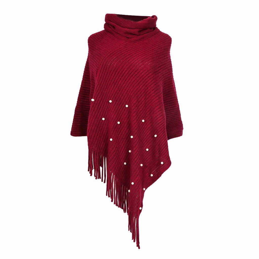 여성 겨울 스카프 숙녀 용 니트 캐시미어 판초 케이프 쇼울 가디건 스웨터 코트 Panuelos De Mujer Para El Cuello # YL10